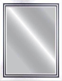 Linedekor Mirror Frame กระจกเงาติดผนัง รุ่น 2206-Sขนาด 50ซม.x70ซม. – สีเงินขลิบดำ