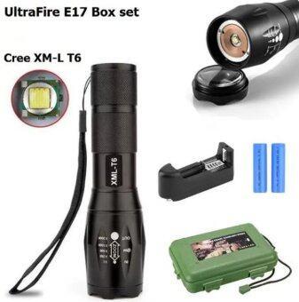igootech BOX Set UltraFire ไฟฉายแรงสูง ไฟฉายพกพา XM-L T6 (E17)