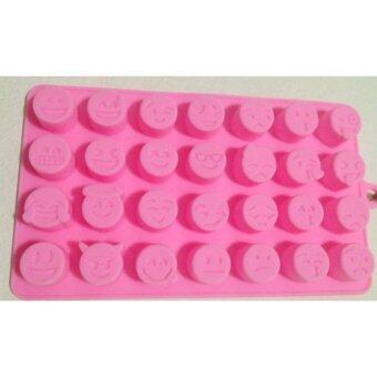 แม่พิมพ์ Silicone รูปทรงอีโมจิหลากอารมณ์สำหรับทำขนม วุ้น ช็อคโกแลต เยลลี่ น้ำแข็ง สบู่ เทียนหอม
