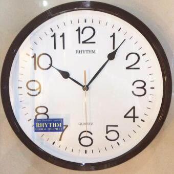 RHYTHM Japan นาฬิกาแขวนพลาสติก รุ่น CMG734ER06 - สีน้ำตาล