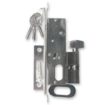ISEO กุญแจ ล็อค บานเลื่อน no.498 SS (สีเงิน)