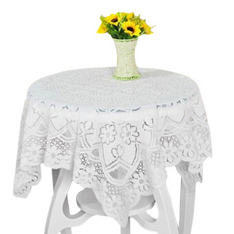 Harga PAlight Embroidery Lace Tablecloth (Diameter 180cm Round)
