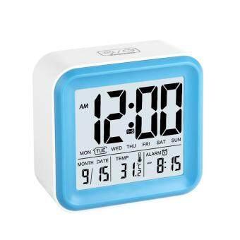 Leegoal ดิจิตอลนาฬิกาปลุกที่มี 3 สัญญาณ และไฟเวลากลางคืน/วัน/วัน/เวลาแสดงผลอุณหภูมิ สีน้ำเงิน