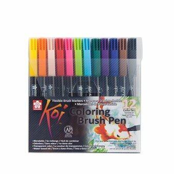 ปากกาพู่กัน โคอิ (Koi Brush Pen) SAKURA (12 ชิ้น)