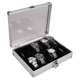 Leegoal อลูมิเนียม 12 นาฬิกาข้อมือแสดงผลกล่องนาฬิกากล่องครอบ