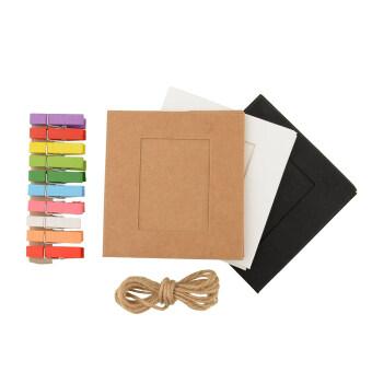 Aukey 10 x แขวนกรอบรูปกระดาษฝีมือด้วยอัลบั้มแกลอรี่ด้วยเส้นเชือกการตกแต่งบ้านคลิป
