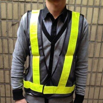 Harga Visibility Reflective Warning Safety Security Vest Gear Traffic Working Clothes