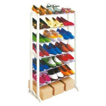 Kantareeya ชั้นวางรองเท้า 7 ชั้น (สีขาว)