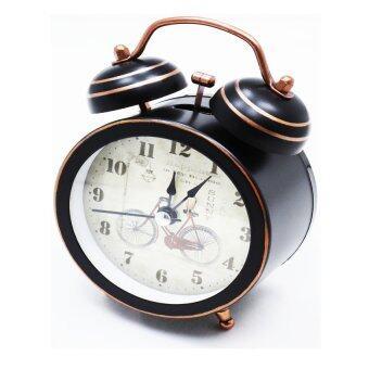 iBettalet นาฬิกาปลุก นาฬิกาตั้งโต๊ะ สไตล์วิเนเทจ ( ลายจักรยาน ) รุ่น AY8001