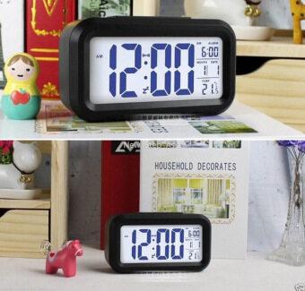 Cassablu นาฬิกาปลุกตั้งโต๊ะ นาฬิกาปลุกเรื่องแสง นาฬิกาปลุก สีดำ