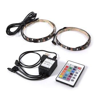 ไฟเส้น (2 เส้น) Multi-color RGB 50cm 5050 SMD LED พร้อมรีโมท 24Key (image 3)