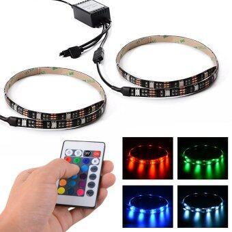 ไฟเส้น (2 เส้น) Multi-color RGB 50cm 5050 SMD LED พร้อมรีโมท 24Key