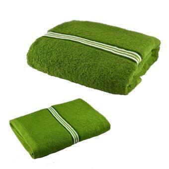 Shipper เซทผ้าขนหนู ขนาด 27x54 และ 15x30 นิ้ว (สีเขียว) Pack 1 set