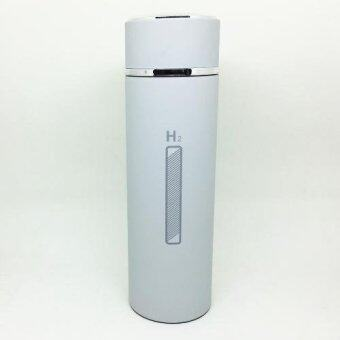 TGhome ขวดน้ำ H2O เก็บความร้อนความเย็น พร้อมที่กรองชา 450 ml-สีเทา