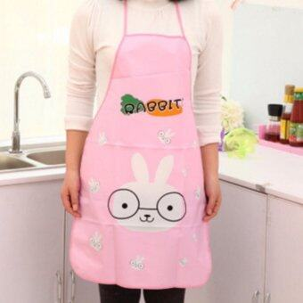 CHANEE ผ้ากันเปื้อนแบบกันน้ำ ลาย Rabbit