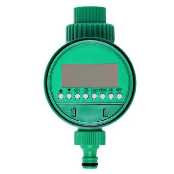โซเลนอยด์วาล์วน้ำจับเวลาอิเล็กทรอนิกส์ควบคุมการชลประทานสปริงเกอร์สวน (สีเขียว)