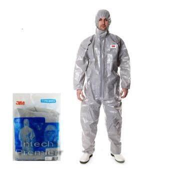 Medium ชุดป้องกันสารเคมีรุ่น 4570 ผ่านมาตรฐานการป้องกัน 3M Coverall Grey Type 3/4/5/6