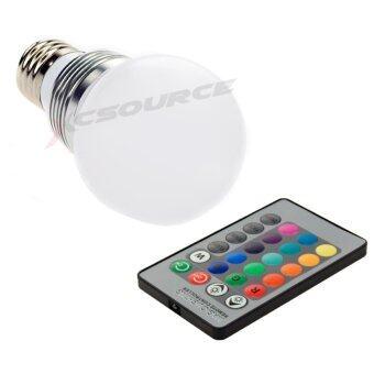 XCSource หลอดไฟ 3W E27 LED RGB 16 สี + รีโมท