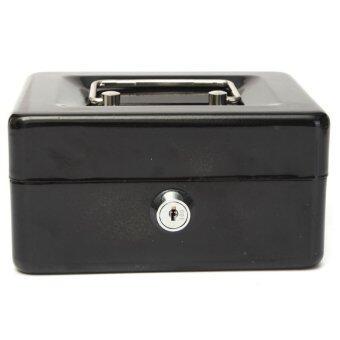 จัดการเปลี่ยนกล่องโลหะเงินสดที่เก็บเงินรักษา Desposit บ้านสีดำ