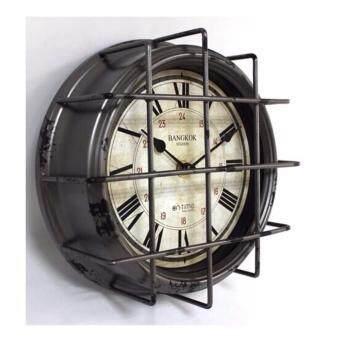 Mastersat นาฬิกาแขวนผนัง ทำเหมือนของเก่า สไตล์ วินเทจ (สีเขียว)
