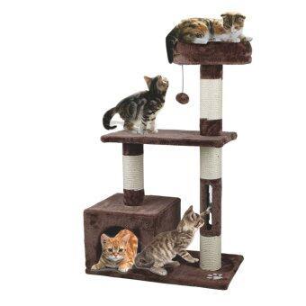 คอนโดแมว สูง 96 ซม. (สีน้ำตาลเข้ม)