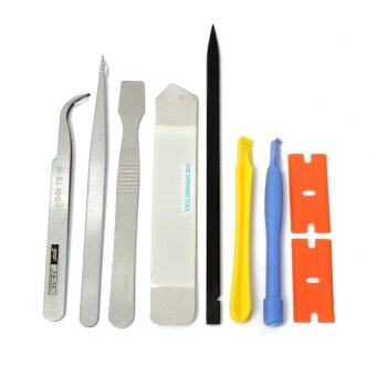 Harga Universal 9 in1 Opening Repair Tools Pry Metal Spudger Tool Kit Set For iPhone