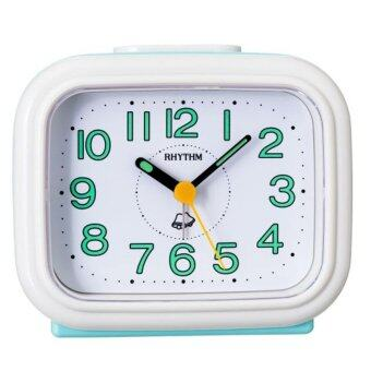 RHYTHM นาฬิกาปลุก Bell Alarm Clock รุ่น 4RA888-R79 ฟ้า/ขาว