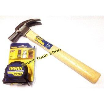 Irwin ตลับเมตร5เมตร รุ่น Professional+ irwin ค้อนหงอนด้ามไม้ 454กรัม (16ออนซ์)