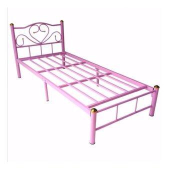 ISO เตียงเหล็กอย่างดี 3 ฟุต รุ่น LOTUS ขา2นิ้ว