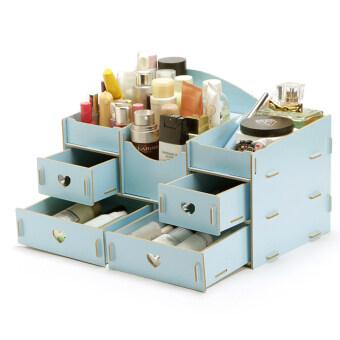 ชั้นวางเครื่องสำอาง DIY Storage Box (สีฟ้า)