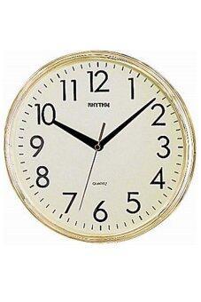 RHYTHM นาฬิกาแขวน รุ่น CMG716-BR18 (สีทอง)