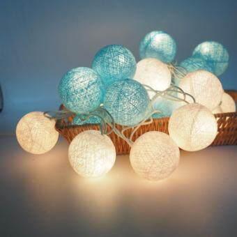 โคมไฟคละสี แบบห้อย ตกแต่งภายในบ้าน ตกแต่งพนังและห้องเด็ก สีฟ้าอ่อน สลับ ขาว สวยสีอ่อน pastel
