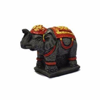 AN&P SHOP รูปปั้นมงคล OTOP ช้างทรงเครื่องยืน ขนาด 2.5 x 3.5 นิ้ว