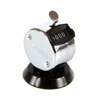 Aroma เครื่องนับจำนวน ฐานตั้งโต๊ะ รุ่น AR504T (สีเงิน/ดำ)