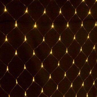 Light Farm ไฟตาข่าย LED ขนาด 1.5 x 1.5 ม. สี เหลือง ไฟตกแต่ง ไฟประดับ LED แพ็ค 1 ชุ