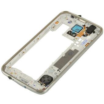 กลางกรอบด้านที่อยู่อาศัย Easybuy ย้อนกลับสำหรับ Samsung S5/i9600/G900 (เงิน)
