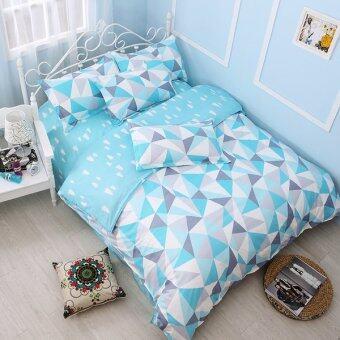Pillow Land ผ้าปูที่นอน ชุดผ้านวม 6 ฟุต 6 ชิ้น ลาย KC015
