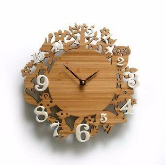 Coptertrend นาฬิกาแต่งผนัง12 zodiac wc563 (สีไม้)