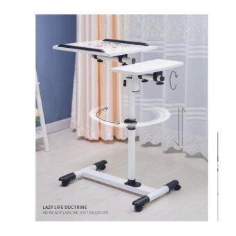 โต๊ะวางโน๊ตบุ๊ค ขนาด 60 ซม. รุ่นปรับระดับได้ Flower-White