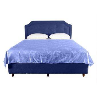 ผ้าห่มแพรทอลายเตียงเดี่ยว เนื้อซาติน ขนาด 6ฟุต รหัส Silk-084