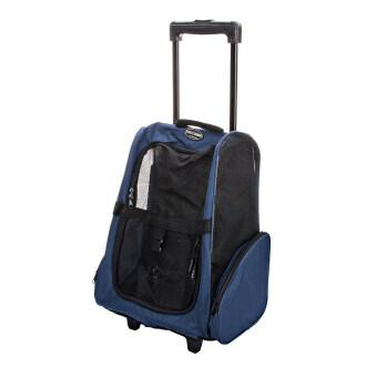 Smartshopping กระเป๋าเป้ล้อลาก กระเป๋าสำหรับสุนัข (สีน้ำเงิน)