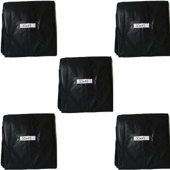 papamami Black Garbage bag ถุงขยะ ถุงใส่ขยะ ขนาด 30นิ้วx40นิ้ว บรรจุ 5 ก.ก (สีดำ)