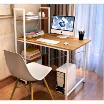 Asia โต๊ะทำงาน ขนาด 1เมตร รุ่น BP216 Loft Style โครงขาว-เมเปิ้ล