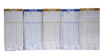 VERTEX บัตรตอกเวลา เวอร์เทค สำหรับ เครื่องตอกบัตร VERTEX / DELI / NEOCAL (แพ็ค 5 ห่อ)