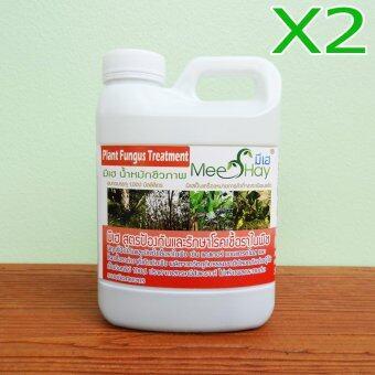 Meehay มีเฮ® แพ็คคู่ สูตรป้องกันและรักษาโรคเชื้อราในพืช ขนาด 1 ลิตร (น้ำหมักชีวภาพสำหรับพืช)