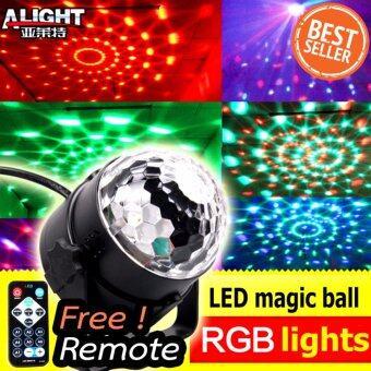Remote + Mini Led Magic Ball Lighting ไฟดิสโก้เทค ไฟปาร์ตี้ ไฟคาราโอเกะ ไฟเวที รุ่น MQ-03