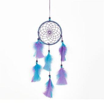 Harga 1pcs Wall Hanging Dream Catcher with Feather Decoration Blue and Purple