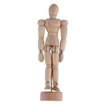 โอ้ 11.43ซมวาดผู้ชายหุ่นอวัยวะมนุษย์ไม้รุ่นนางแบบหุ่นไม้