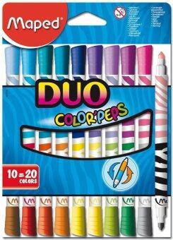 Maped 10 แท่ง (20สี) ปากกาเมจิก DUO Color'Peps