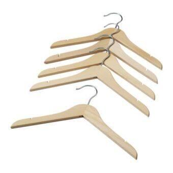 ไม้แขวนเสื้อเด็ก ลายไม้ 5ชิ้น HappyHome